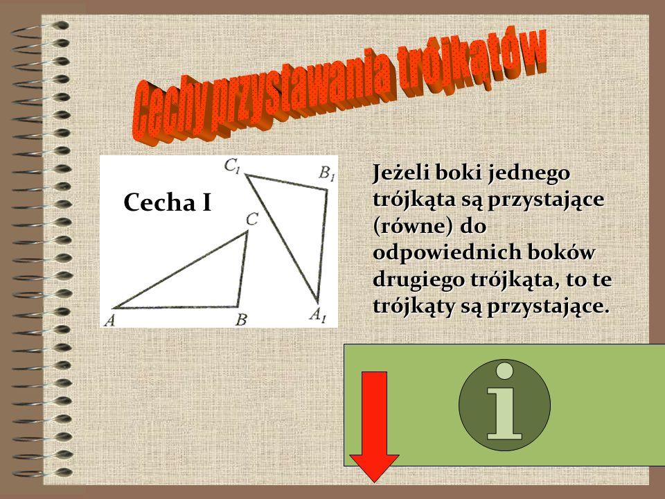 Jeżeli dwa boki jednego trójkąta są proporcjonalne do dwóch boków drugiego trójkąta, a kąty między nimi zawarte są przystające, to trójkąty są podobne