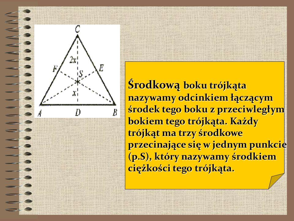 Dwusieczna kąta jest to półprosta dzieląca kąt na połowy. Każdy trójkąt ma trzy dwusieczne przecinające się w jednym punkcie (p.O), który jest środkie