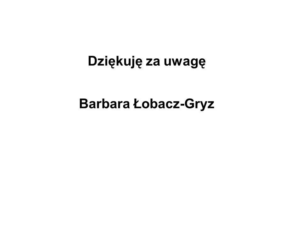 Dziękuję za uwagę Barbara Łobacz-Gryz