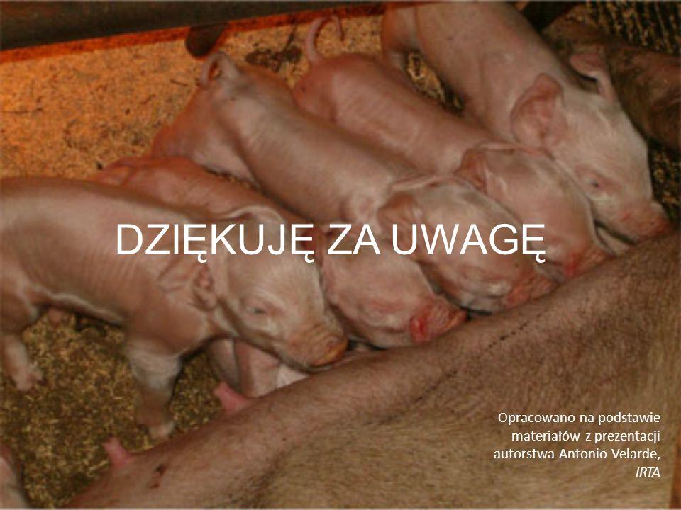 DZIĘKUJĘ ZA UWAGĘ Opracowano na podstawie materiałów z prezentacji autorstwa Antonio Velarde, IRTA