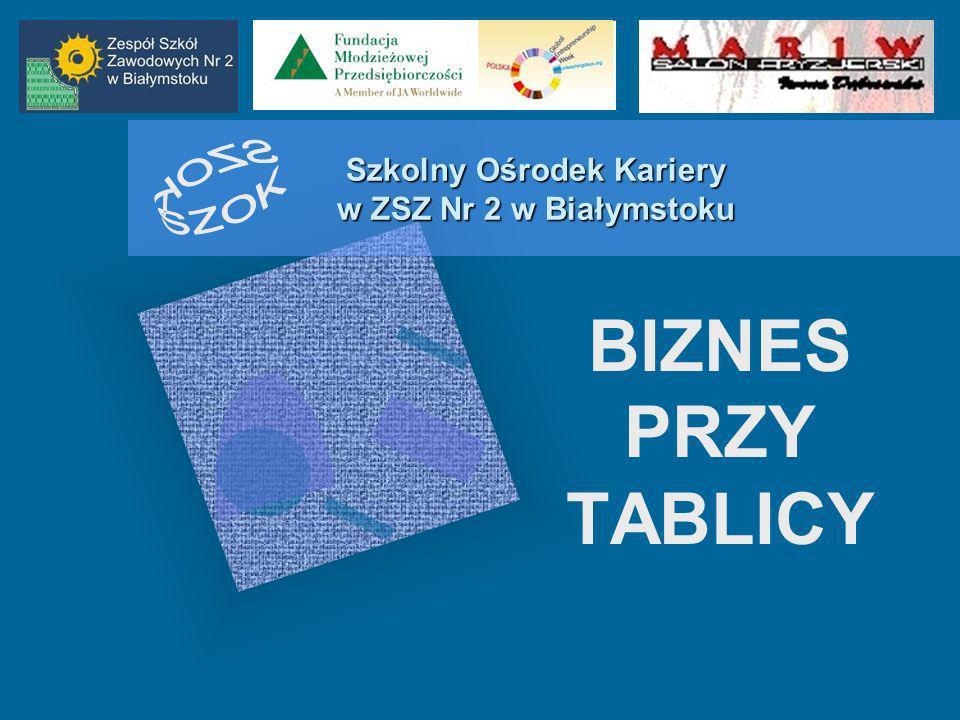 Szkolny Ośrodek Kariery w ZSZ Nr 2 w Białymstoku BIZNES PRZY TABLICY