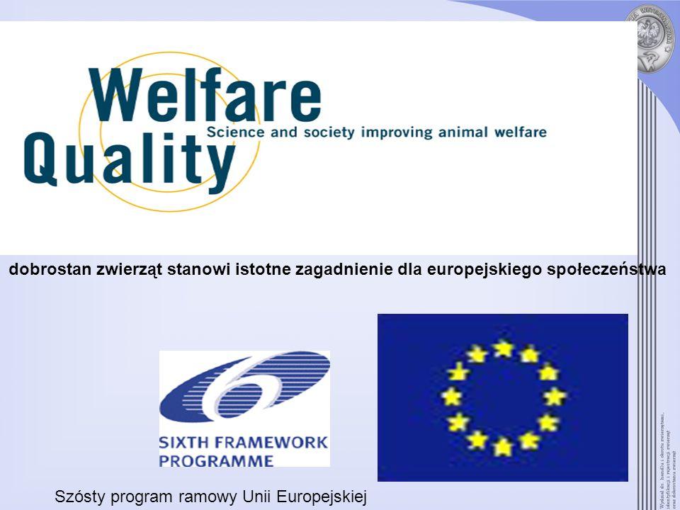 dobrostan zwierząt stanowi istotne zagadnienie dla europejskiego społeczeństwa Szósty program ramowy Unii Europejskiej
