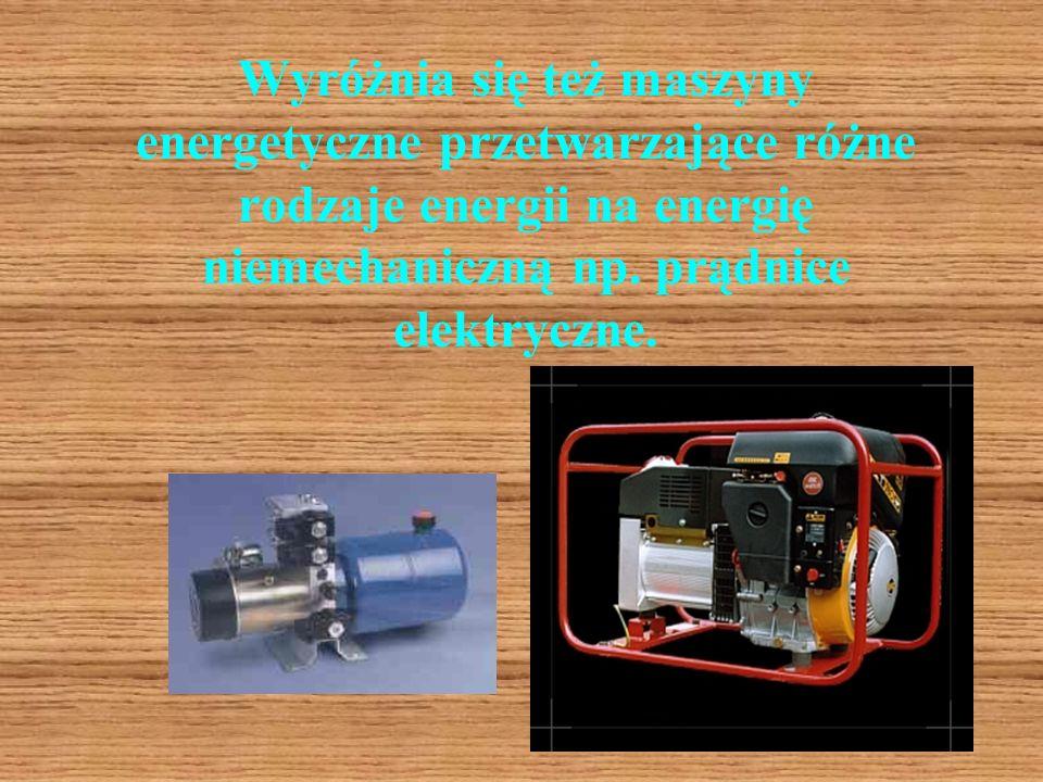 Maszyny energetyczne, które przetwarzają energię czynnika w celu jej powiększenia to np. sprężarki i pompy. Sprężarki Pompa