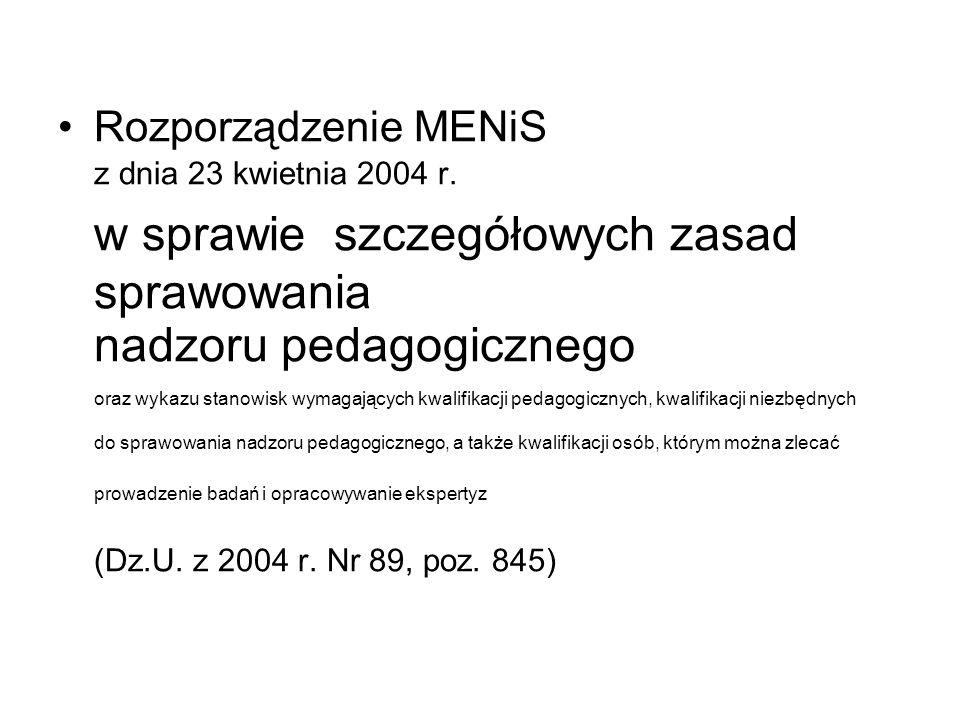Rozporządzenie MENiS z dnia 23 kwietnia 2004 r.