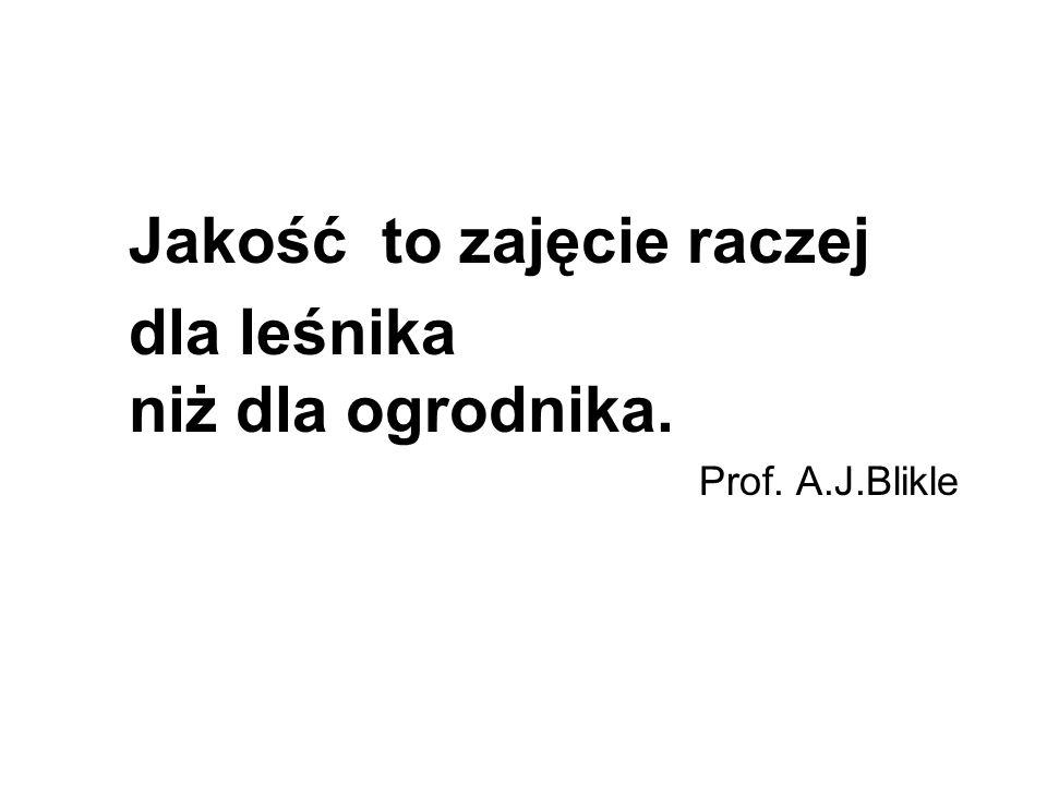 Jakość to zajęcie raczej dla leśnika niż dla ogrodnika. Prof. A.J.Blikle