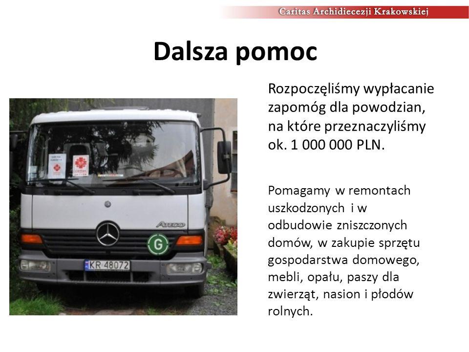 Podsumowanie Łącznie Caritas Archidiecezji Krakowskiej przekazała już ofiarom powodzi i osuwisk pomoc o wartości ok.