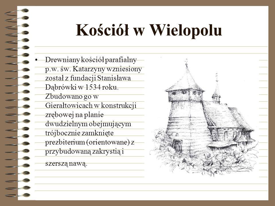 Kościół w Wilczej Górze Drewniany kościół parafialny p.w.