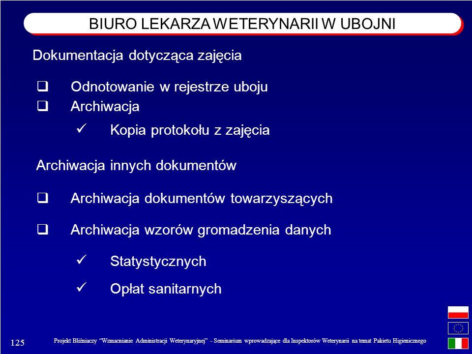 125 Projekt Bliźniaczy Wzmacnianie Administracji Weterynaryjnej - Seminarium wprowadzające dla Inspektorów Weterynarii na temat Pakietu Higienicznego