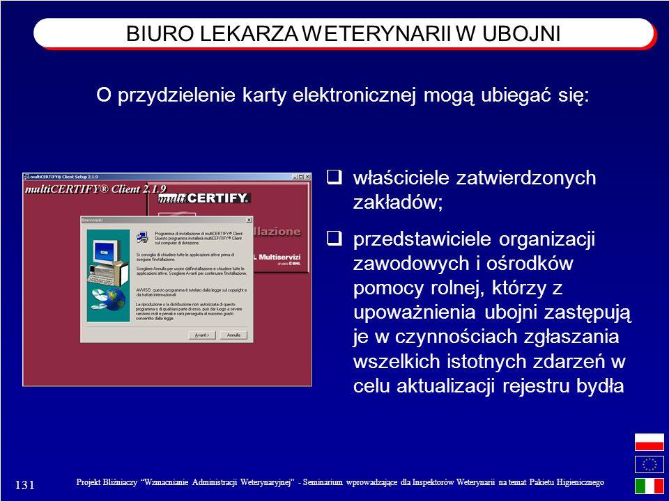 131 Projekt Bliźniaczy Wzmacnianie Administracji Weterynaryjnej - Seminarium wprowadzające dla Inspektorów Weterynarii na temat Pakietu Higienicznego