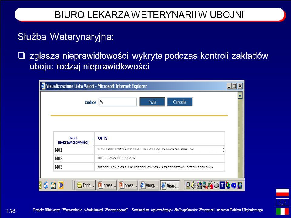 136 Projekt Bliźniaczy Wzmacnianie Administracji Weterynaryjnej - Seminarium wprowadzające dla Inspektorów Weterynarii na temat Pakietu Higienicznego