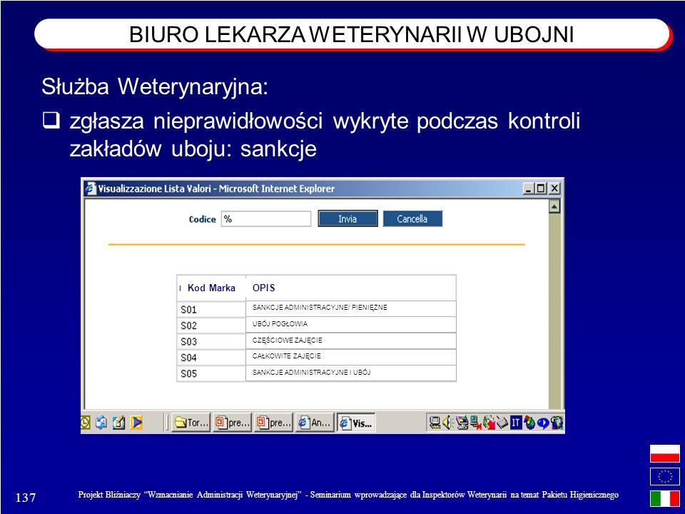 137 Projekt Bliźniaczy Wzmacnianie Administracji Weterynaryjnej - Seminarium wprowadzające dla Inspektorów Weterynarii na temat Pakietu Higienicznego