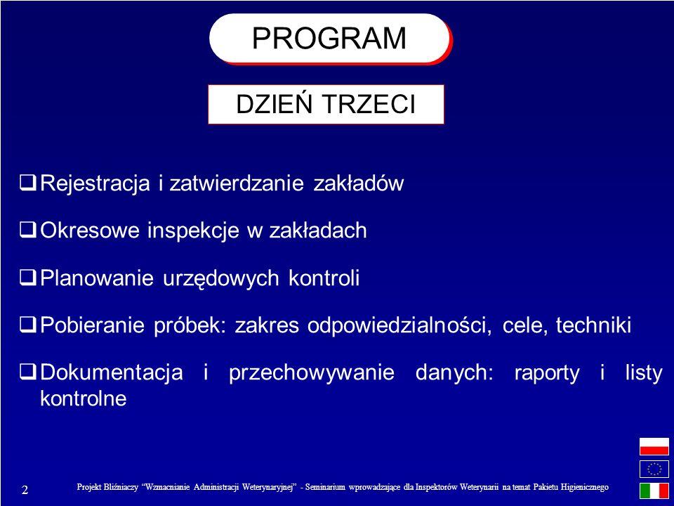2 Projekt Bliźniaczy Wzmacnianie Administracji Weterynaryjnej - Seminarium wprowadzające dla Inspektorów Weterynarii na temat Pakietu Higienicznego PR