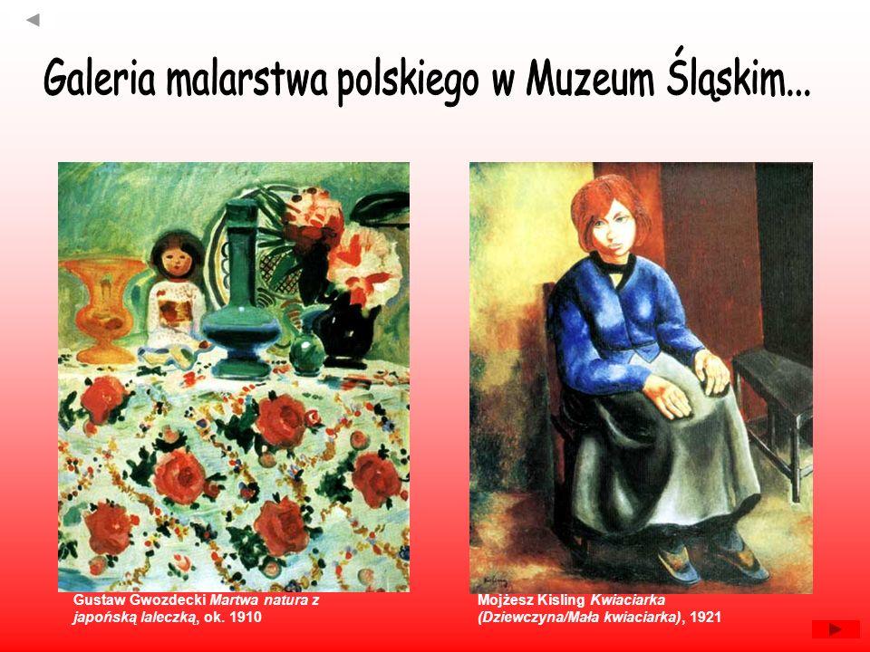 Gustaw Gwozdecki Martwa natura z japońską laleczką, ok. 1910 Mojżesz Kisling Kwiaciarka (Dziewczyna/Mała kwiaciarka), 1921