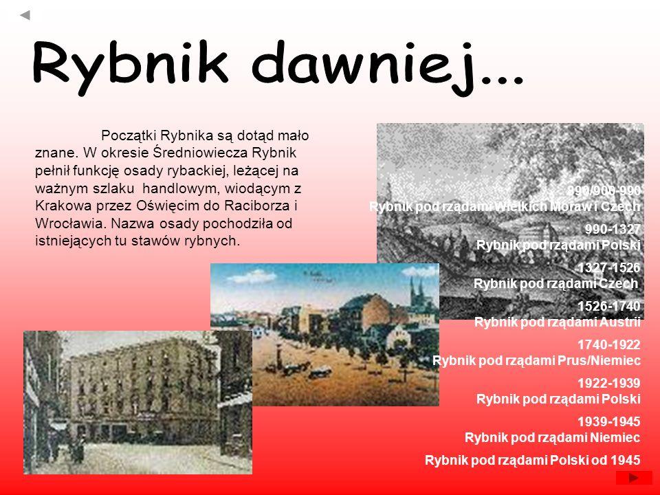 Początki Rybnika są dotąd mało znane. W okresie Średniowiecza Rybnik pełnił funkcję osady rybackiej, leżącej na ważnym szlaku handlowym, wiodącym z Kr