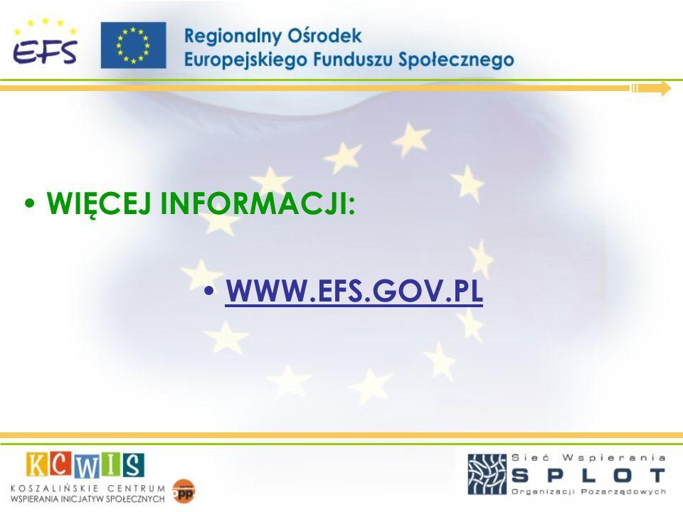 Kontakt: Łukasz Cieśliński, Doradca kluczowy Regionalnego Ośrodka EFS w Koszalinie lukasz.cieslinski@kcwis.org.pl DZIĘKUJĘ ZA UWAGĘ