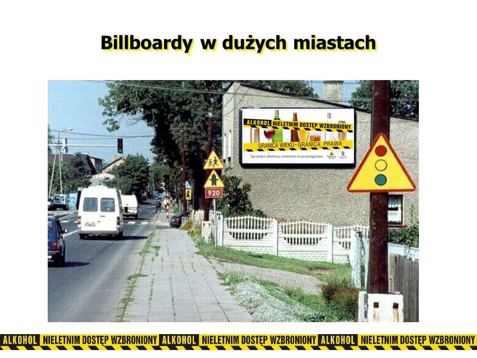 Billboardy w dużych miastach