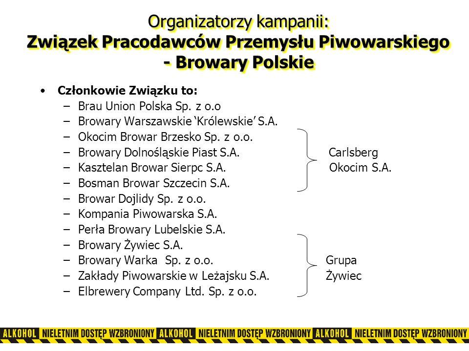 Członkowie Związku to: –Brau Union Polska Sp.z o.o –Browary Warszawskie Królewskie S.A.