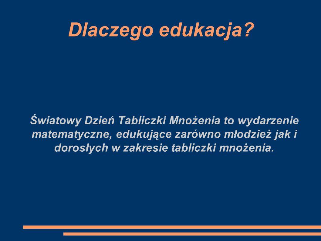 Dlaczego edukacja? Światowy Dzień Tabliczki Mnożenia to wydarzenie matematyczne, edukujące zarówno młodzież jak i dorosłych w zakresie tabliczki mnoże