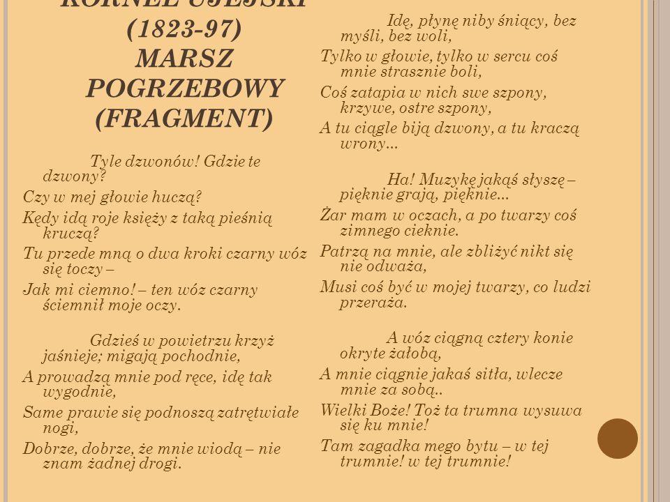 KORNEL UJEJSKI (1823-97) MARSZ POGRZEBOWY (FRAGMENT) Tyle dzwonów.