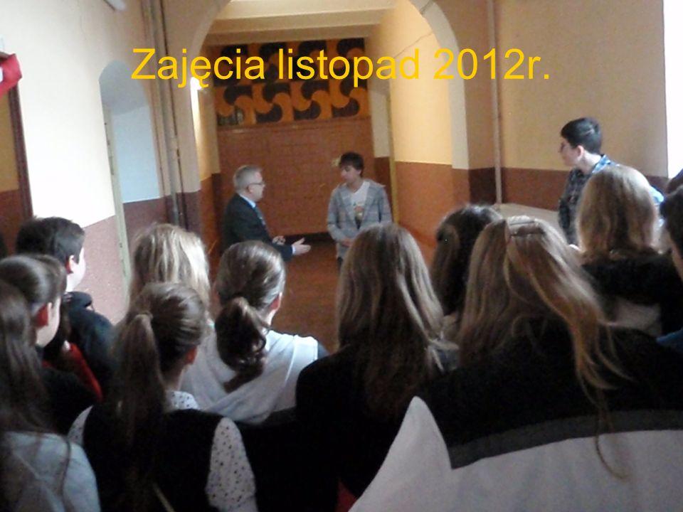 Zajęcia listopad 2012r.
