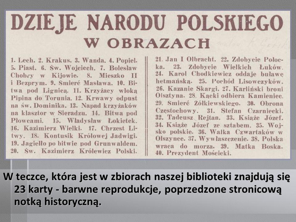 Początek notki historycznej: Książę Józef Poniatowski w otoczeniu sztabu.