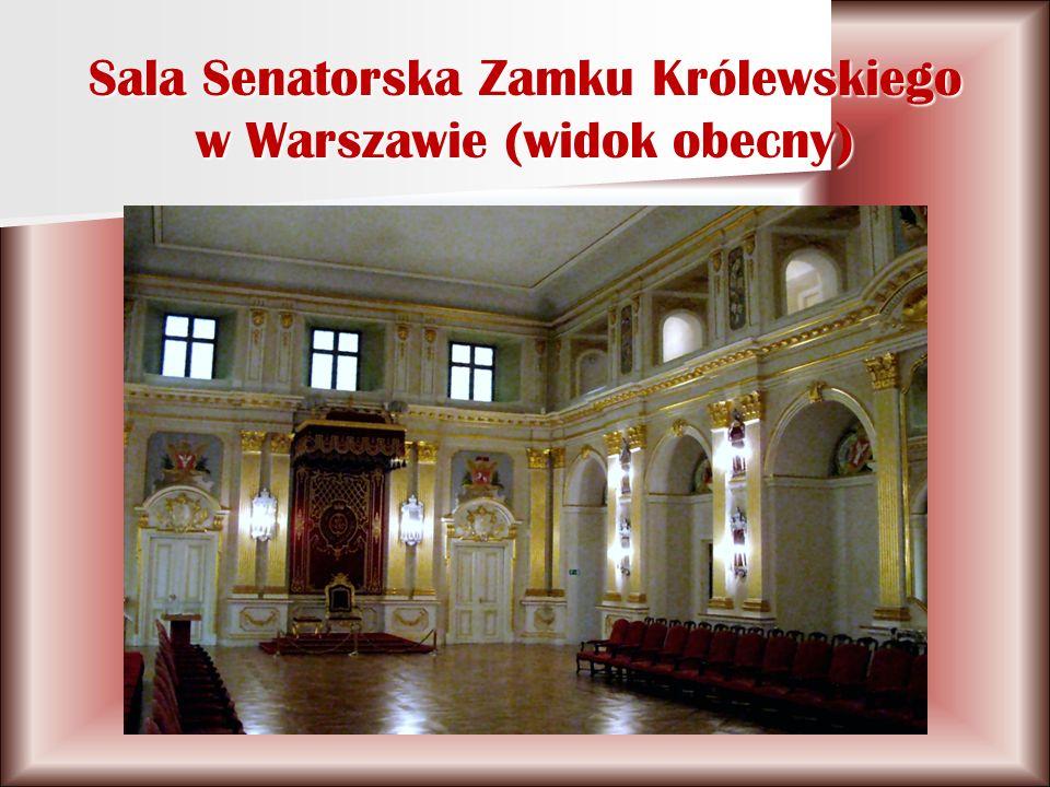 Sala Senatorska Zamku Królewskiego w Warszawie (widok obecny)