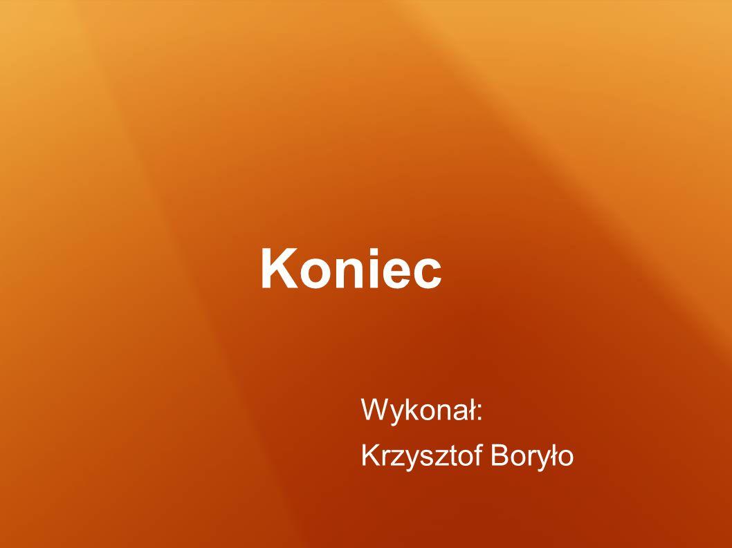 Koniec Wykonał: Krzysztof Boryło