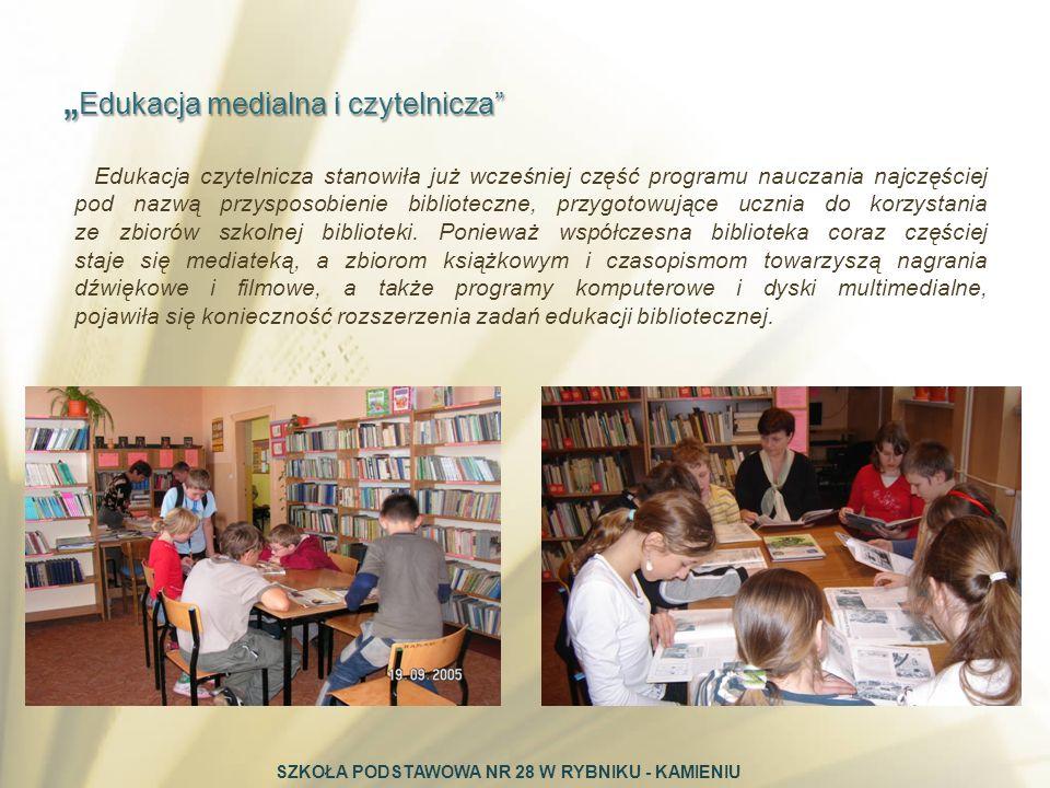 Edukacja czytelnicza stanowiła już wcześniej część programu nauczania najczęściej pod nazwą przysposobienie biblioteczne, przygotowujące ucznia do kor
