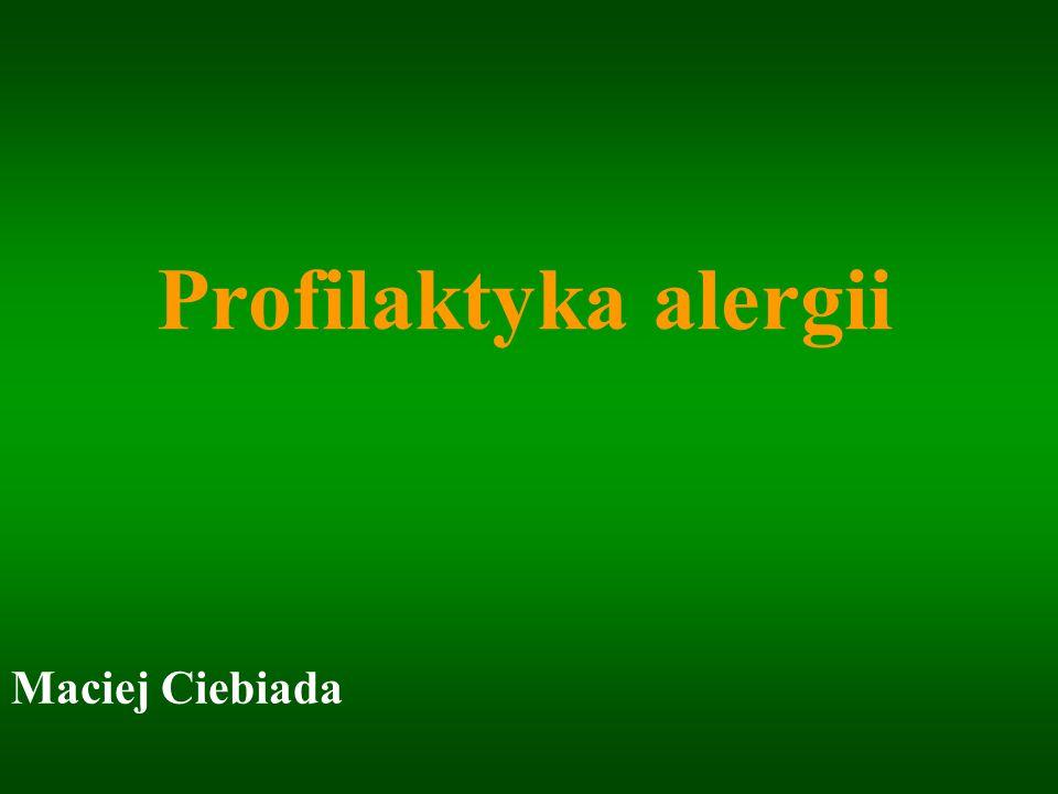 World Allergy Organization Guidelines for Prevention of Allergy and Allergic Asthma 2002 www.karger.com/iaa Raport WAO/WHO : Prevention of Allergy and Allergic Asthma Genewa 1999/2002 www.who.int/respiratory/asthma/en/ Światowa strategia rozpoznawania, leczenia i prewencji astmy GINA 2002/2004 www.mp.pl/artykuly/?aid=12084