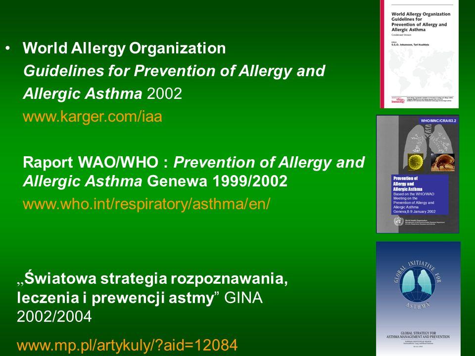 Roztocze kurzu domowego narażenie na alergeny roztoczy kurzu domowego światowym problemem zdrowotnym (WHO).