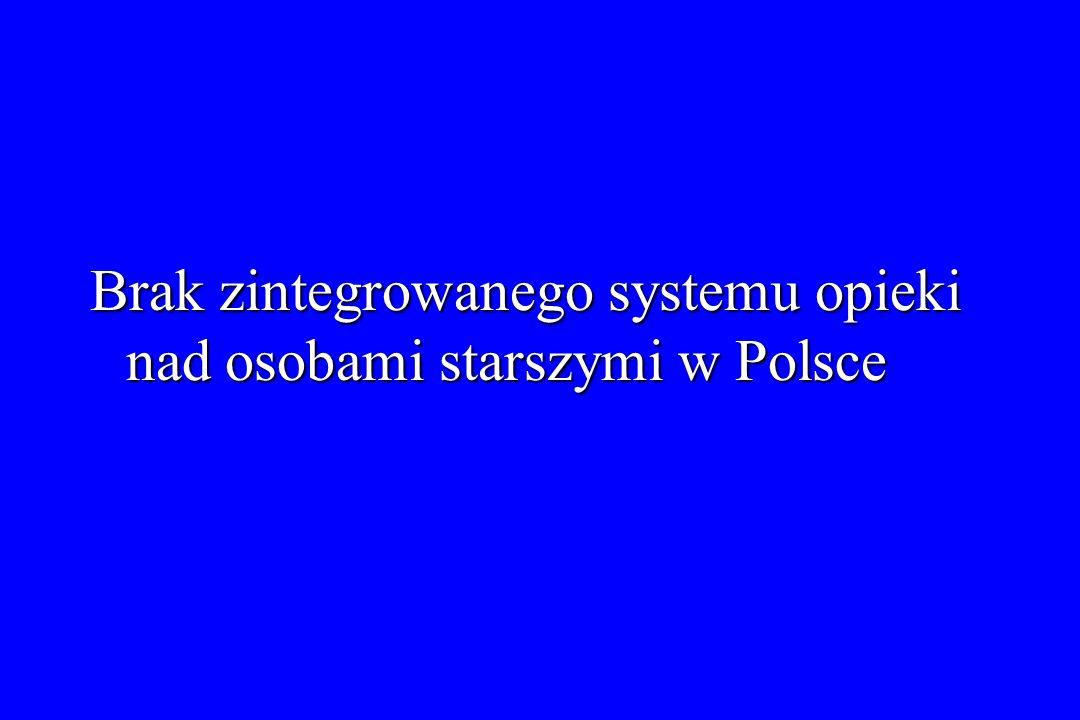 Brak zintegrowanego systemu opieki nad osobami starszymi w Polsce