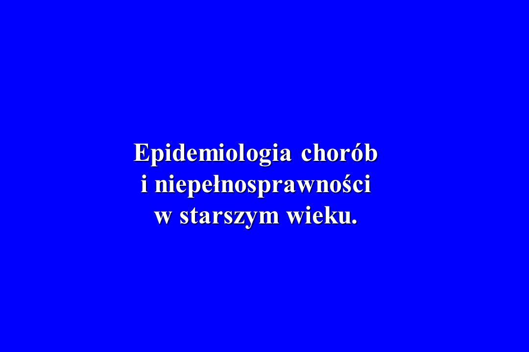Epidemiologia chorób i niepełnosprawności w starszym wieku.