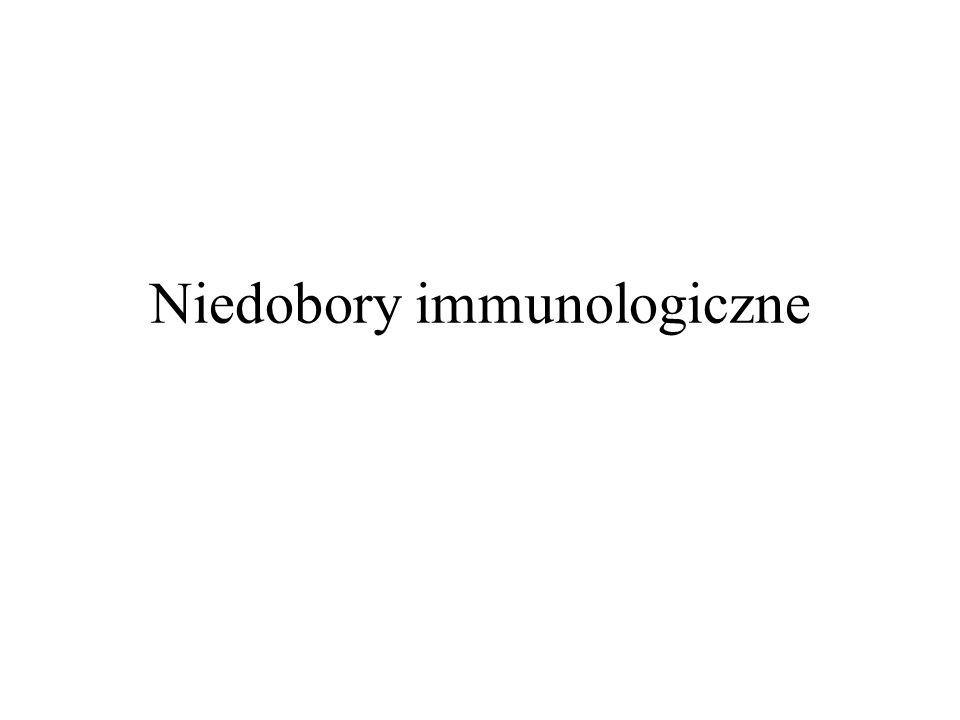 definicja Niedobory immunologiczne to stany chorobowe związane z niewydolnością układu immunologicznego