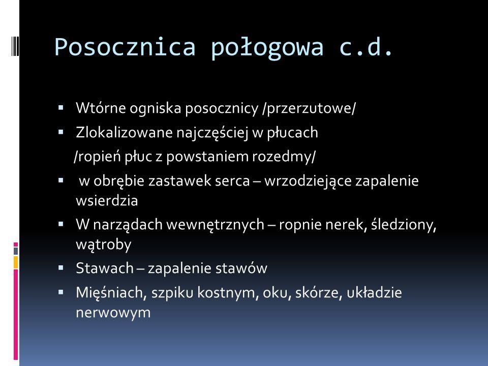 Posocznica połogowa c.d.