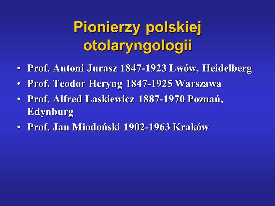 Pionierzy polskiej otolaryngologii Prof. Antoni Jurasz 1847-1923 Lwów, HeidelbergProf. Antoni Jurasz 1847-1923 Lwów, Heidelberg Prof. Teodor Heryng 18