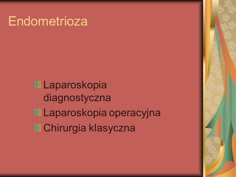Endometrioza Laparoskopia diagnostyczna Laparoskopia operacyjna Chirurgia klasyczna