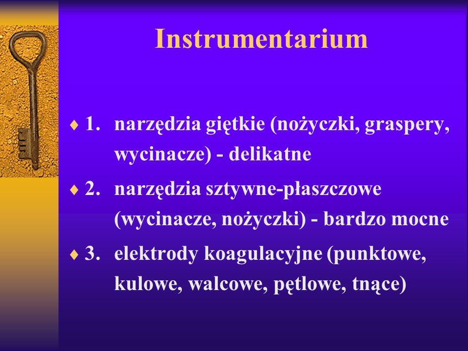 Parametry 1.dylatacja gazowa - maks: 0,1 l/min, 200 mm Hg 2.dylatacja płynowa continous-flow - maks: 60 min, 180 mm Hg, utrata płynu 1500 ml (2000 ml - przerwać zabieg)