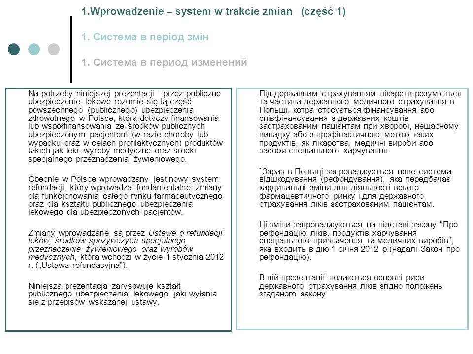 1.Wprowadzenie – system w trakcie zmian (część 1) 1.