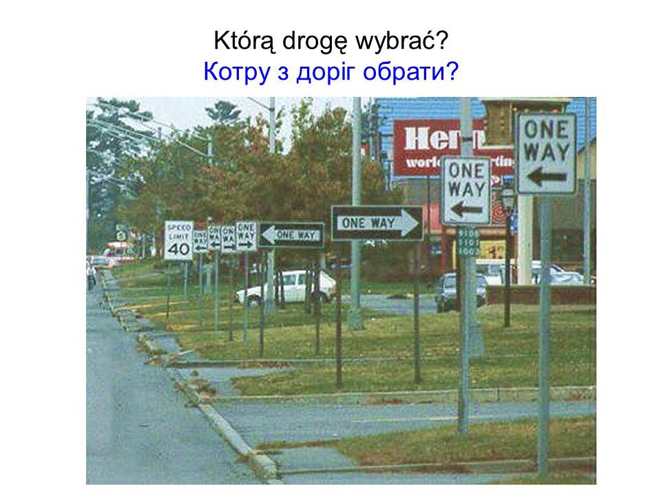Którą drogę wybrać Котру з доріг обрати