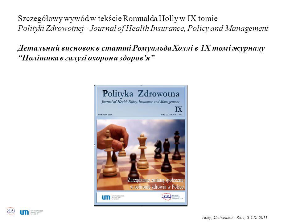 Szczegółowy wywód w tekście Romualda Holly w IX tomie Polityki Zdrowotnej - Journal of Health Insurance, Policy and Management Детальний висновок в ст