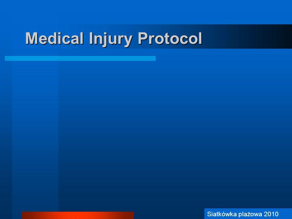 Siatkówka Plażowa 2006 Medical Injury Protocol Siatkówka plażowa 2010