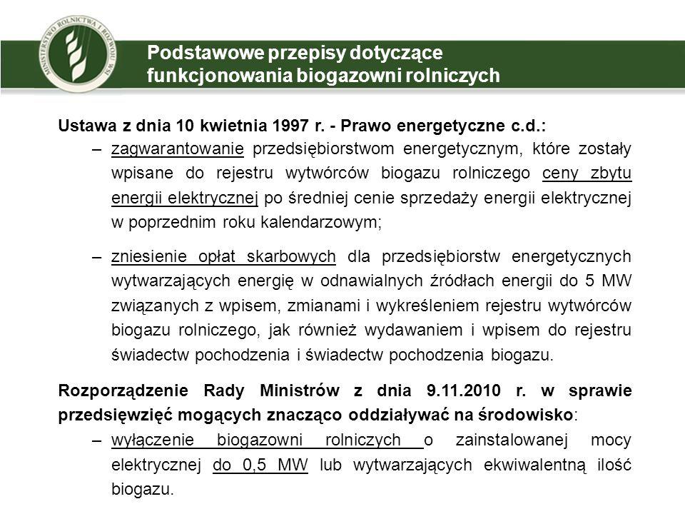 4 Zagospodarowanie produktów pofermentacyjnych w ramach R10 Rozporządzenie Ministra Środowiska z dnia 5 kwietnia 2011 r.