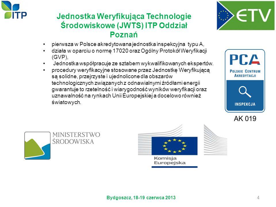 pierwsza w Polsce akredytowana jednostka inspekcyjna typu A, działa w oparciu o normę 17020 oraz Ogólny Protokół Weryfikacji (GVP), Jednostka współpra