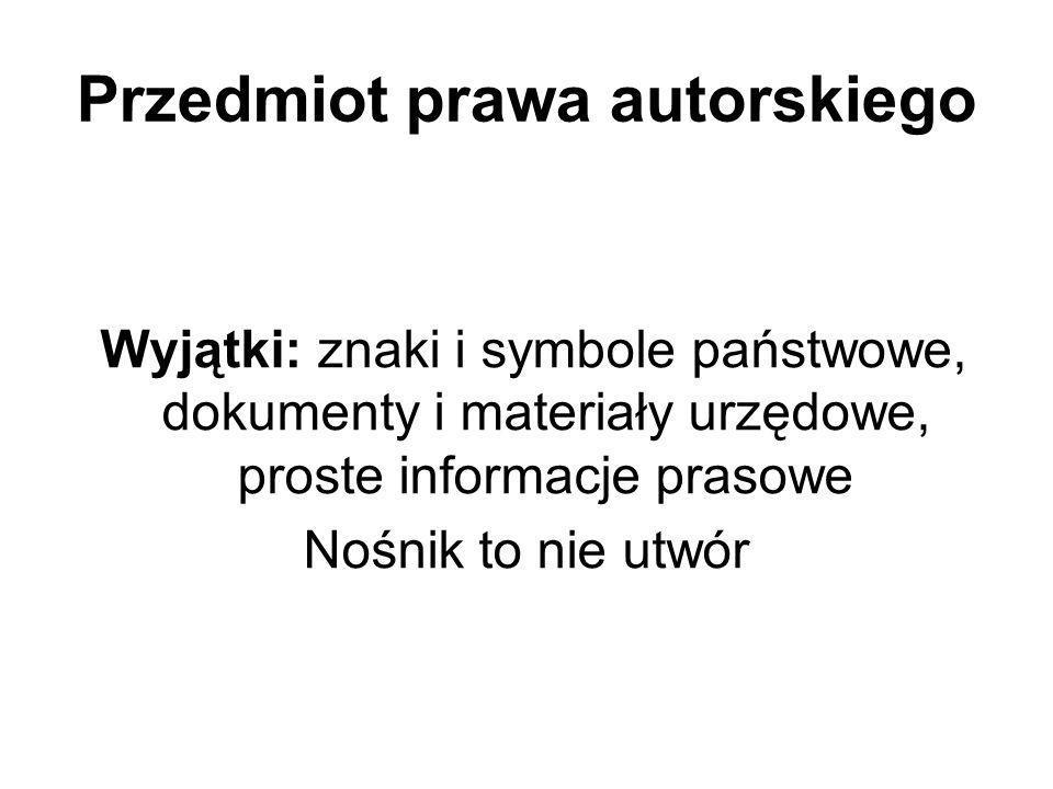 Przedmiot prawa autorskiego utwór zależny: 1.