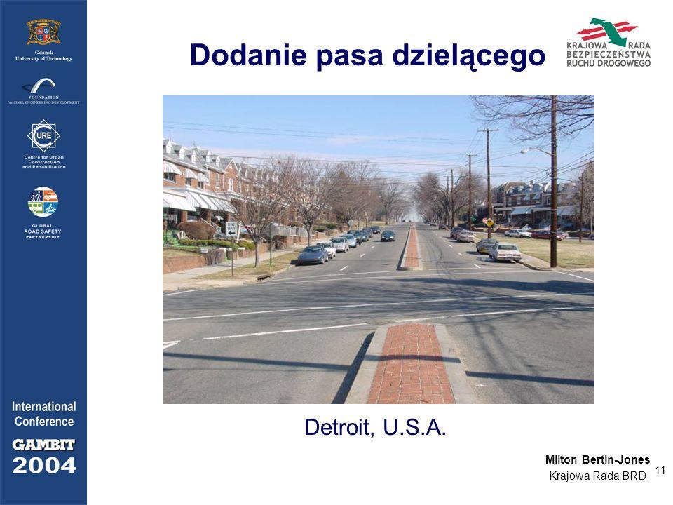 11 Dodanie pasa dzielącego Detroit, U.S.A. Milton Bertin-Jones Krajowa Rada BRD