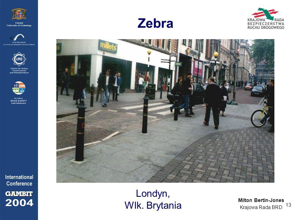 13 Zebra Londyn, Wlk. Brytania Milton Bertin-Jones Krajowa Rada BRD
