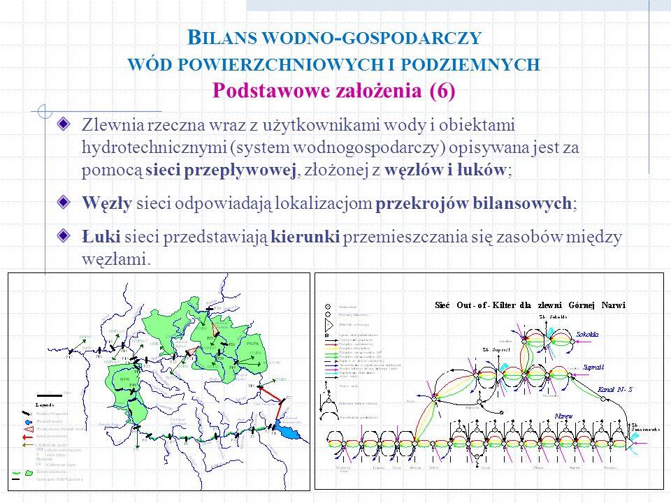 Zlewnia rzeczna wraz z użytkownikami wody i obiektami hydrotechnicznymi (system wodnogospodarczy) opisywana jest za pomocą sieci przepływowej, złożone