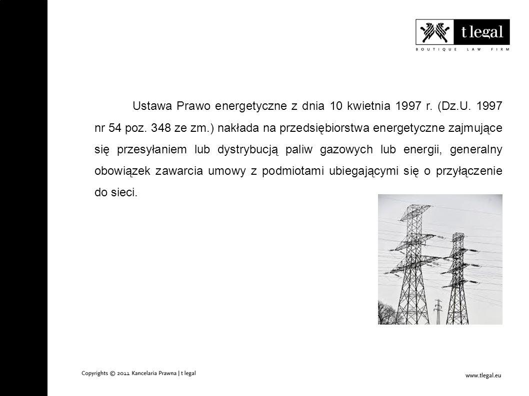 Problematyka odmowy przyłączania do sieci elektroenergetycznej Poznań, dnia 20 listopada 2012 r.
