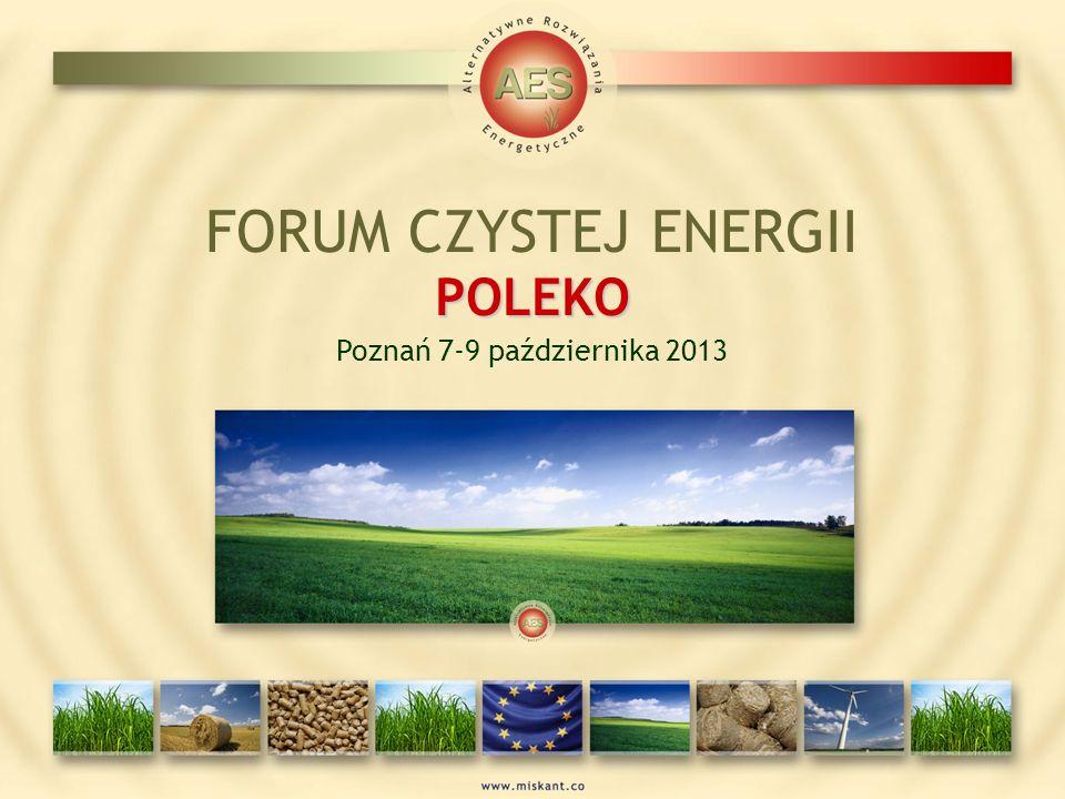 POLEKO FORUM CZYSTEJ ENERGII POLEKO Poznań 7-9 października 2013