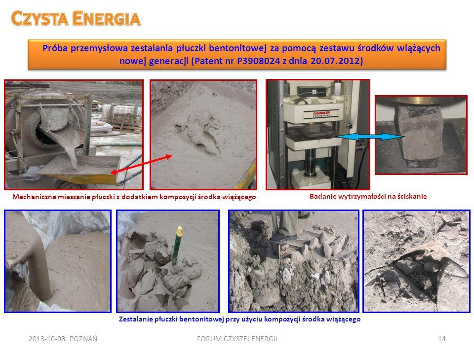 2013-10-08, POZNAŃFORUM CZYSTEJ ENERGII14 Badanie wytrzymałości na ściskanie Mechaniczne mieszanie płuczki z dodatkiem kompozycji środka wiążącego Zes